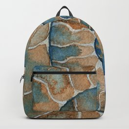 Ammonite fossil watercolor painting Backpack