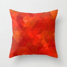 Orange Flames Throw Pillow