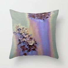 Rainbow Corrosion  Throw Pillow