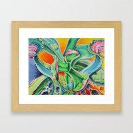Organic Abstraction Framed Art Print