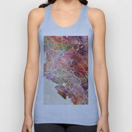 Oakland map Unisex Tank Top