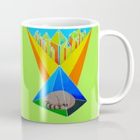 racoon Mugs featuring Crystal Racoon by Cariann Dominguez