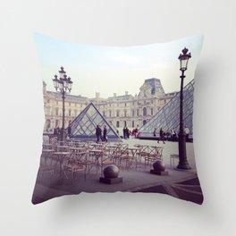 Musée du Louvre Paris Throw Pillow