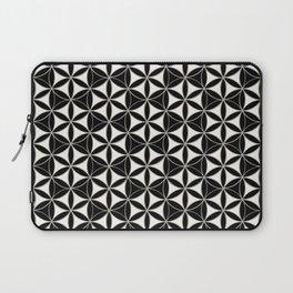 Flower of Life Pattern black-white Laptop Sleeve