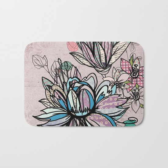 Paper Flowers #1 Bath Mat