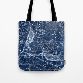 Pisces sky star map Tote Bag
