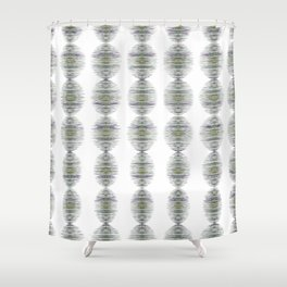 Crayon Colored Circles Shower Curtain