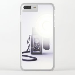 Vintage Twin Lens Reflex Camera Clear iPhone Case