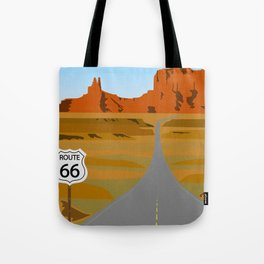 Route 66 Highway Illustration Tote Bag