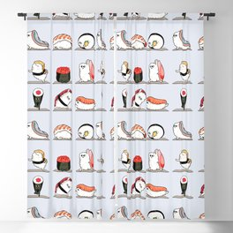 Sushi Yoga Blackout Curtain