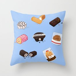 PACKAGED DELIGHTS Throw Pillow