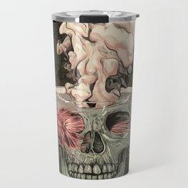 Red Fish and Smokey Skull Travel Mug