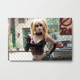 Harley Quinn Bridget Metal Print