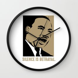 Martin Luther King Jr Day Quote MLK Wall Clock