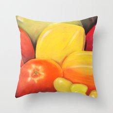 Fruit - Pastel Illustration Throw Pillow