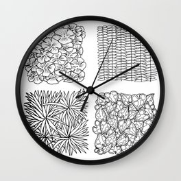 Outside V Wall Clock
