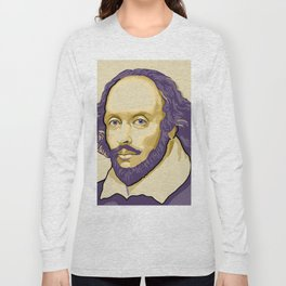 Shakespeare - royal purple and yellow Long Sleeve T-shirt