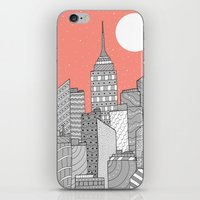 skyline iPhone & iPod Skins featuring Skyline  by  Steve Wade ( Swade)