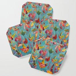 Garden In Aqua Coaster