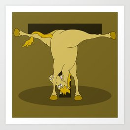 Monogram T Pony Art Print