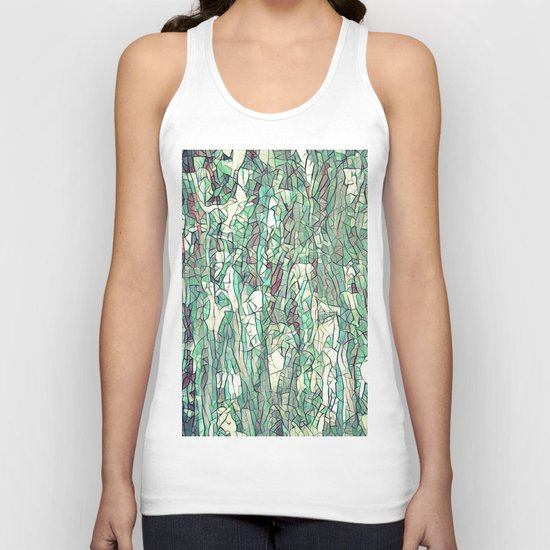Abstract green Unisex Tank Top