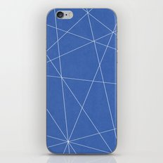 Geometric Blue iPhone & iPod Skin