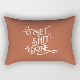 Get Shit Done motivational typography poster bedroom wall home decor Rectangular Pillow
