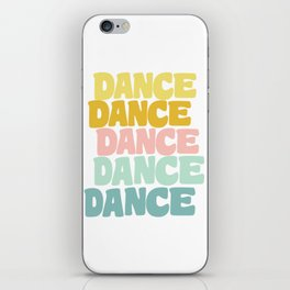 Dance in Candy Pastel Lettering iPhone Skin