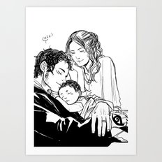 Loving Family Art Print