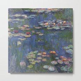 Water Lilies - Claude Monet Metal Print