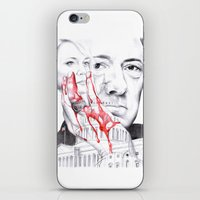 house of cards iPhone & iPod Skins featuring House of Cards by 13 Styx