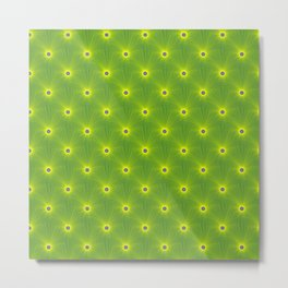 Yellow and Green Color Explosion Tiled Metal Print