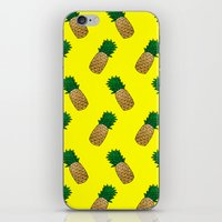pineapples iPhone & iPod Skins featuring Pineapples by Ella Lama