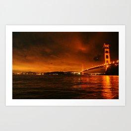 gg bridge Art Print