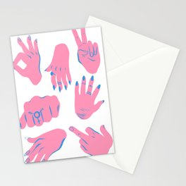 trans hands Stationery Cards