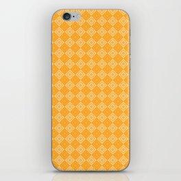 Yellow plaid iPhone Skin