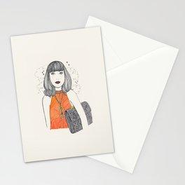 Orange&Python&Clouds Stationery Cards