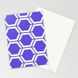 Majorelle blue - blue - Geometric Polygon Pattern Stationery Cards