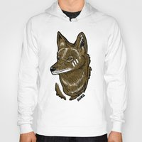 coyote Hoodies featuring Coyote by Sergio Campos