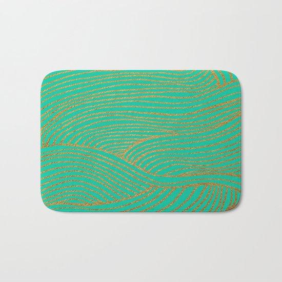 Wind Gold Turquoise Bath Mat