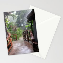 Rainstorm, Negril, Jamaica Stationery Cards