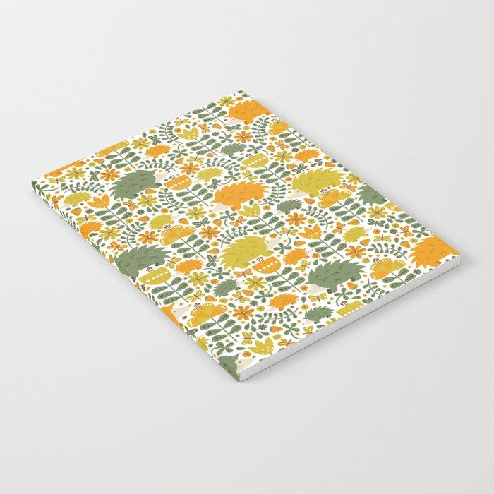 Autumn Hedgehog Forest Notebook