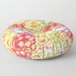 Immersed in Flowers Floor Pillow