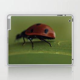 Ladybird on a Flower, macro photography, home, still life, fine art, animal love, nature photo Laptop & iPad Skin