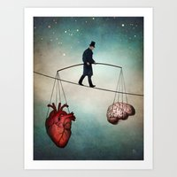 balance Art Prints featuring The Balance by Christian Schloe