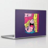 unicorn Laptop & iPad Skins featuring UNICORN! by Chris Piascik