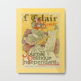 1897 French art nouveau journal advertising Metal Print
