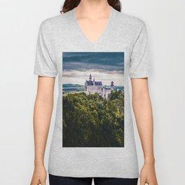 Castle on the Hill (Color) Unisex V-Neck