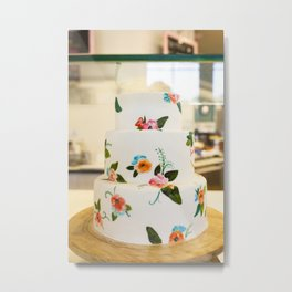 Eat More Cake Metal Print