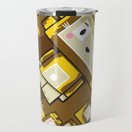 Cute Cartoon Blockimals Lion Pattern Travel Mug